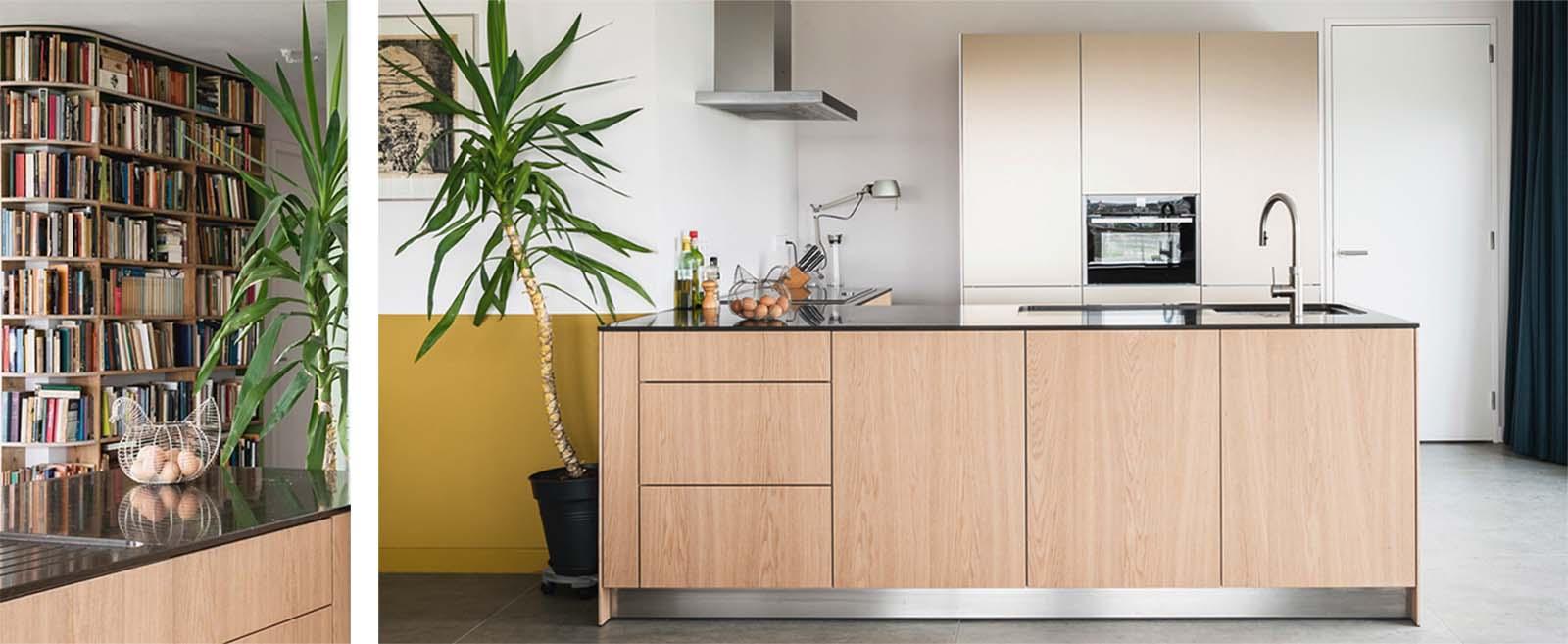 open keuken na verhuizing naar een nieuwbouw appartement