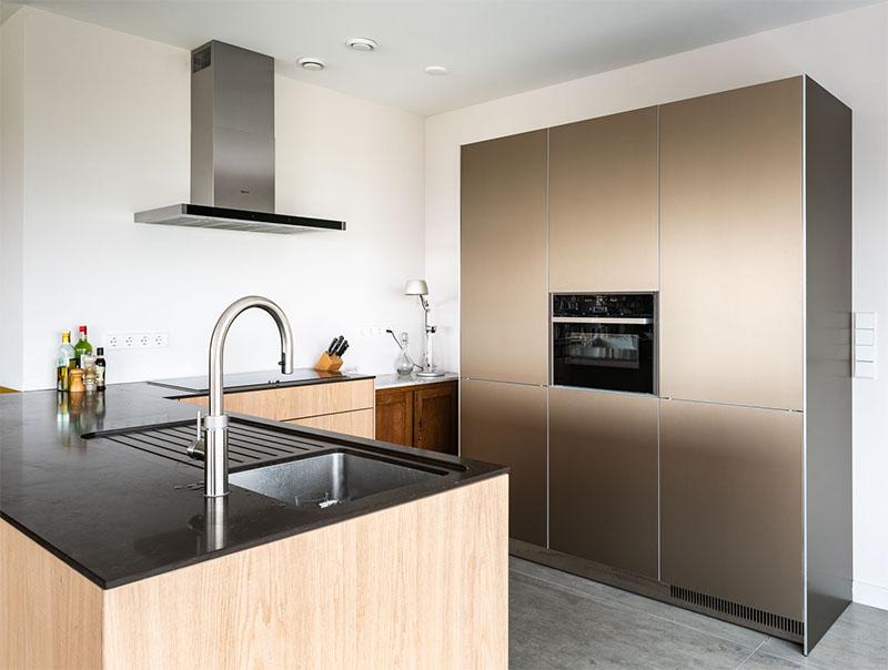 Keuken met werkblad in composiet