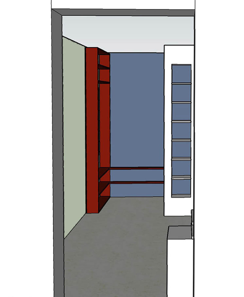 interieurontwerp voor werkkamer van groot naar klein