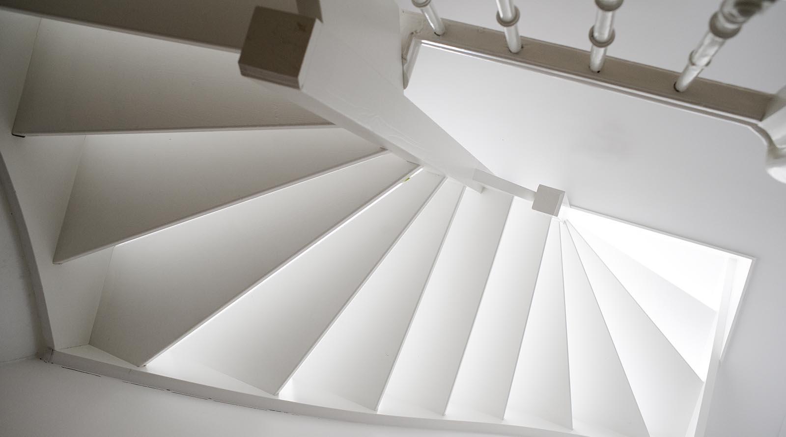 vaste trap naar het dak